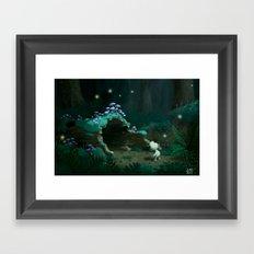 Hollow Log Framed Art Print