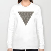 triangles Long Sleeve T-shirts featuring Triangles by Deborah Janke