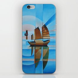 Soft Skies, Cerulean Seas and Cubist Junks iPhone Skin