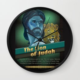 The Lion Of Judah 1 Wall Clock