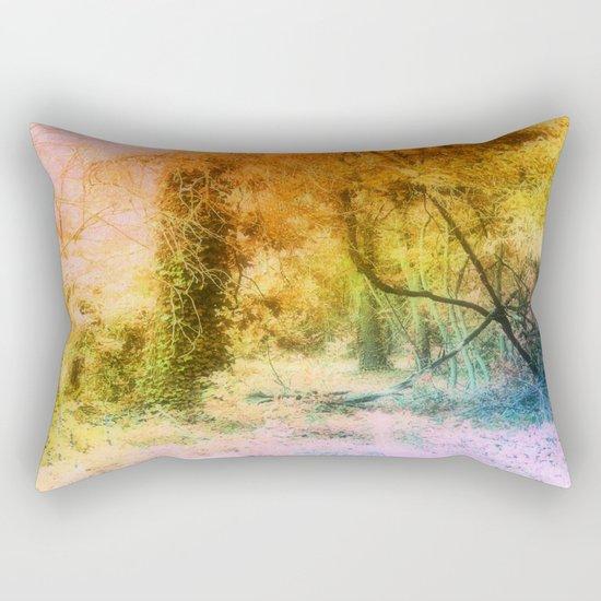 Colorful Tree Landscape Rectangular Pillow