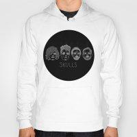 bastille Hoodies featuring Bastille Skulls by wellsi
