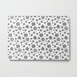 Flowers embroidery Metal Print