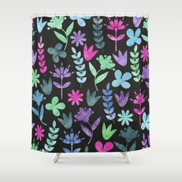 Flower Pattern V Shower Curtain
