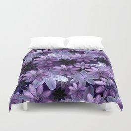 Ultra Violet Anemones of Tillandsia Duvet Cover