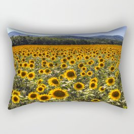 Sunflower Fields Of Dreams Rectangular Pillow