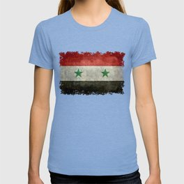 Syrian national flag, vintage T-shirt