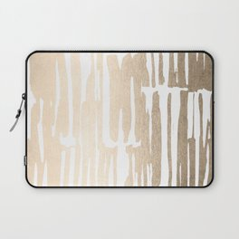 White Gold Sands Bamboo Stripes Laptop Sleeve