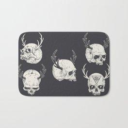 skulls & horns Bath Mat