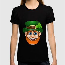 Leprechaun Smiling Face Irish St Patty_s Day T-shirt