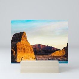 Lone Rock. Glen Canyon. Utah. USA Mini Art Print