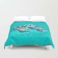 peter pan Duvet Covers featuring Disney's Peter Pan Neverland by foreverwars