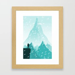 Traveller- winter Framed Art Print