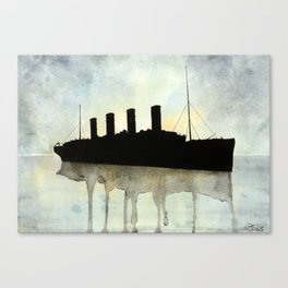 Titanic watercolour Canvas Print