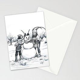 Snow Friend Stationery Cards