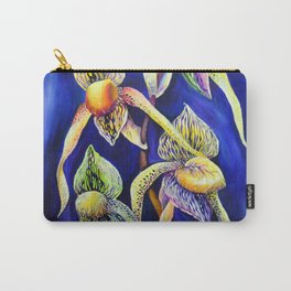 Orchid -  The Paphiopedilum , known as Lady's Slipper Carry-All Pouch
