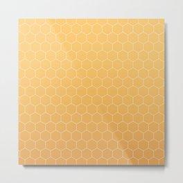 Amber honeycomb Metal Print