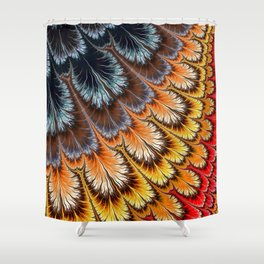 Feathers of many colors Shower Curtain