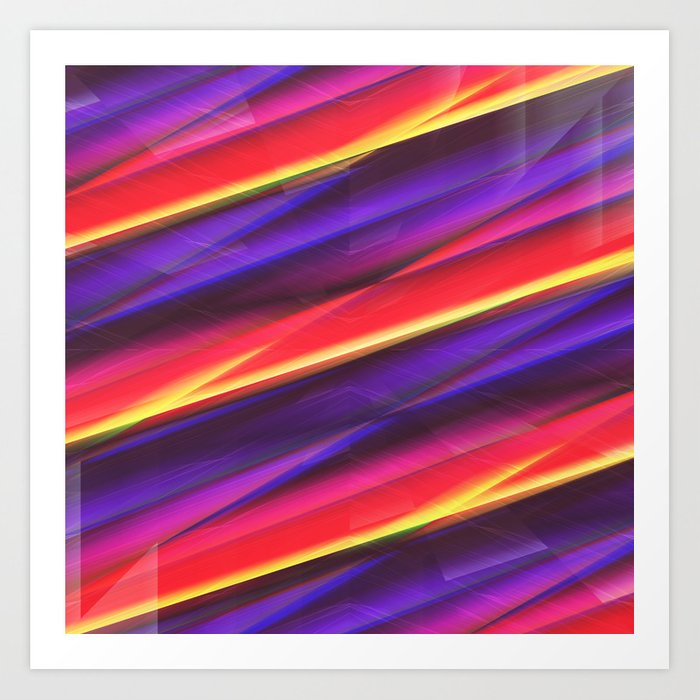 Pattern colorgradient purple Art Print