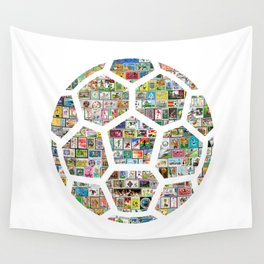 Philately Soccer Ball Wall Tapestry