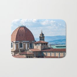 Aerial view of Medici Chapels dome - Florence Bath Mat
