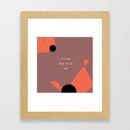 May is mental health month Framed Art Print