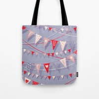 card Tote Bags featuring Hate card by Lime
