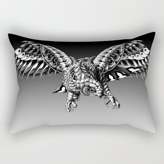Ornate Falcon Rectangular Pillow