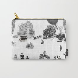 city view from window in 1898 vintage Victorian Carry-All Pouch