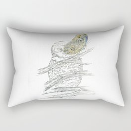 Miss Owl and Butterfly friend Rectangular Pillow