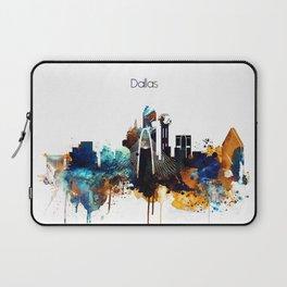 Dallas Texas watercolor print skyline Laptop Sleeve