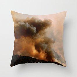 Cedar City Forest Fire - III Throw Pillow