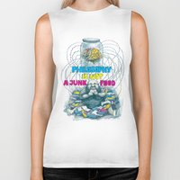 junk food Biker Tanks featuring Philosophy is not a junk food by Ruta13