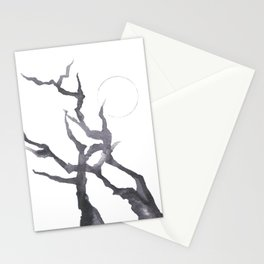 Ink Moon Tree Stationery Cards