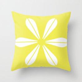 LOTUS MINIMAL - Vanilla cream. Throw Pillow