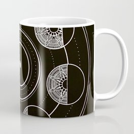 Mandala Moon Circle Coffee Mug