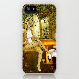 Charming Cheetah Seamstress  iPhone Case