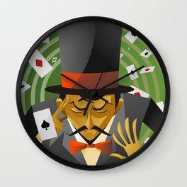 top hat magician poker cards magic trick Wall Clock