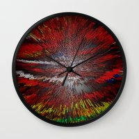 because cats Wall Clocks featuring Because by Violet Vibrance