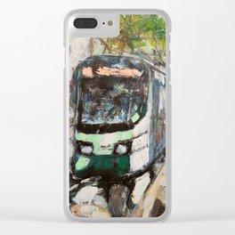 Rome Tram Clear iPhone Case