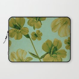 Golden Flowers Laptop Sleeve