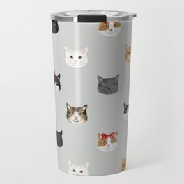 Cat heads cute pet gifts cat lover cat person must haves cat breeds Travel Mug