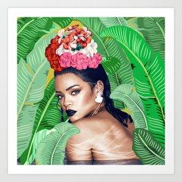 Rihanna naked Art Print
