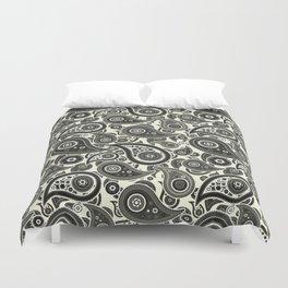 Beige Paisley Pattern Duvet Cover