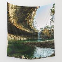 amy hamilton Wall Tapestries featuring Hamilton Pool by RobinFarmer