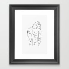 minimal drawing  Framed Art Print
