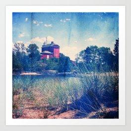 Vintage Great Lakes Lighthouse Art Print