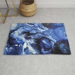 Swirling Blue Waters II - Painting Rug