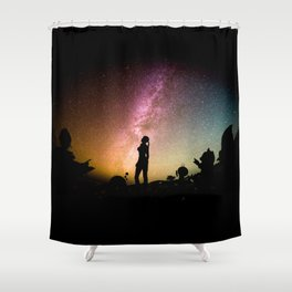 Stargazing - Super Smash Brothers Shower Curtain
