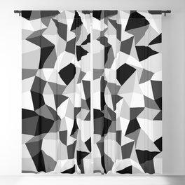Angular Dimension —black & white Blackout Curtain